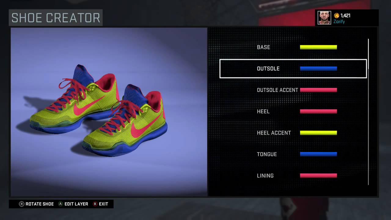 5f4de6a785ec NBA 2K16 Shoe Creator - Nike Kobe 10 Custom