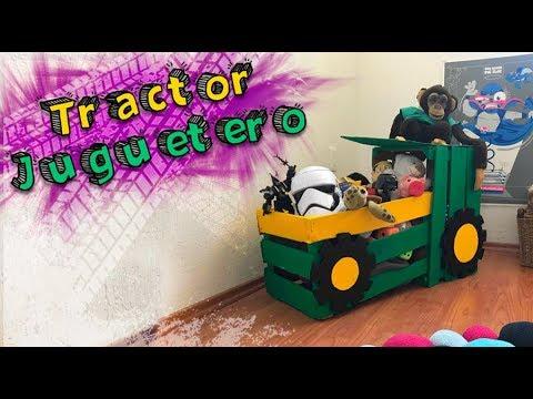 🚜 Tractor Juguetero con Huacales 🏈 Toy Wooden crate DIY
