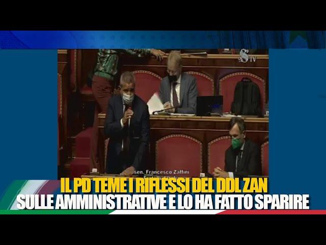 Il Sen. Zaffini interviene sull'ordine dei lavori