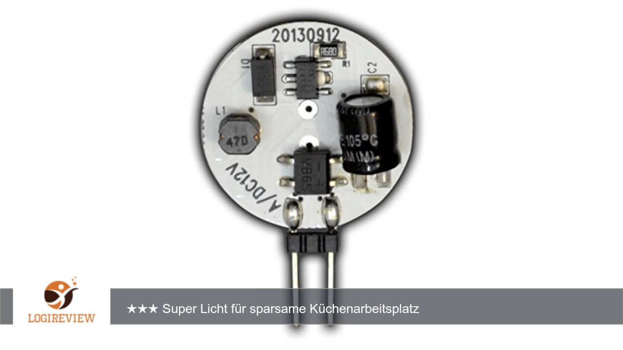 G4 LED dimmbar mit 1,4 Watt (21x SMDs) 12V AC/DC 120° Grad (rund ...