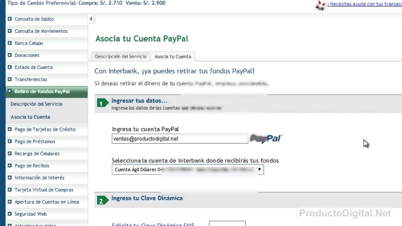 Deposita y retira tu dinero con PayPal