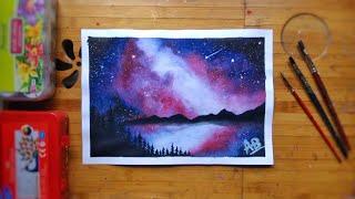 beginners night painting sky easy