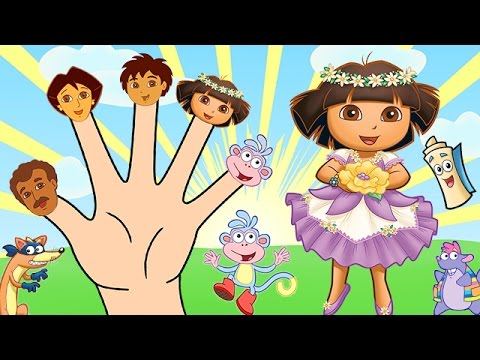 Dora the Explorer Finger Family Song - Nursery Rhymes Lyrics