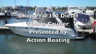 Chaparral 350 Diesel Sports Cruiser  for sale Action Boating Boat Dealer Gold Coast