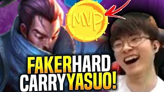 Faker Hard Carry with Yasuo! - When Faker Picks Yasuo Mid! | SKT T1 Replays