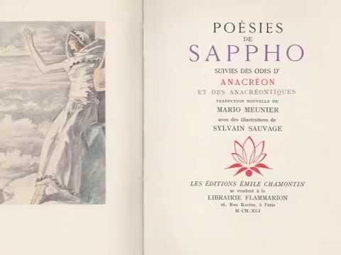 Sylvain Sauvage illustre les poésies de Sappho.