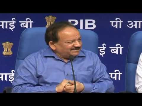 Press Conference By Dr Harsh Vardhan Union Minister for Health  Family Welfare