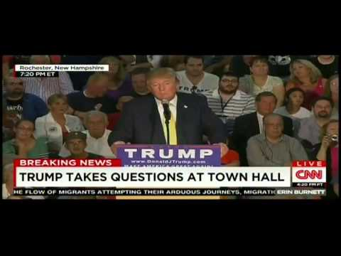 "The first question from the audience during a Donald Trump Q&A last week was by a man who claimed to be ""from White Plains."""