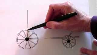 How to draw a stage coach - part 1 of 3