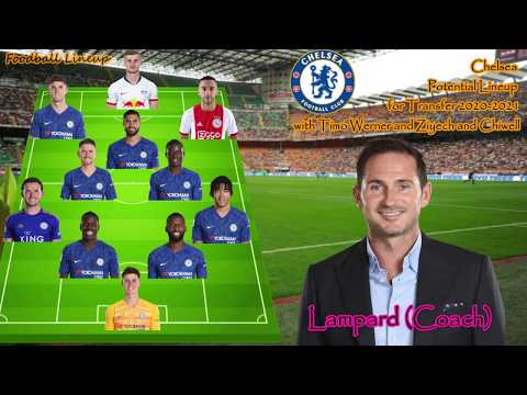 Chelsea Potential lineup 2020-2021 with transfer Werner Ziyech and Chilwell  Chelsea Lineup