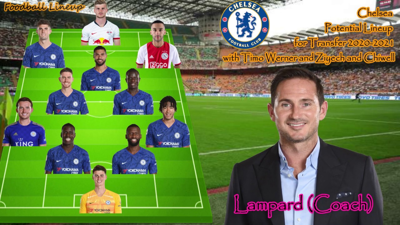 Chelsea Potential Lineup 2020 2021 With Transfer Werner Ziyech And Chilwell Chelsea Lineup Youtube