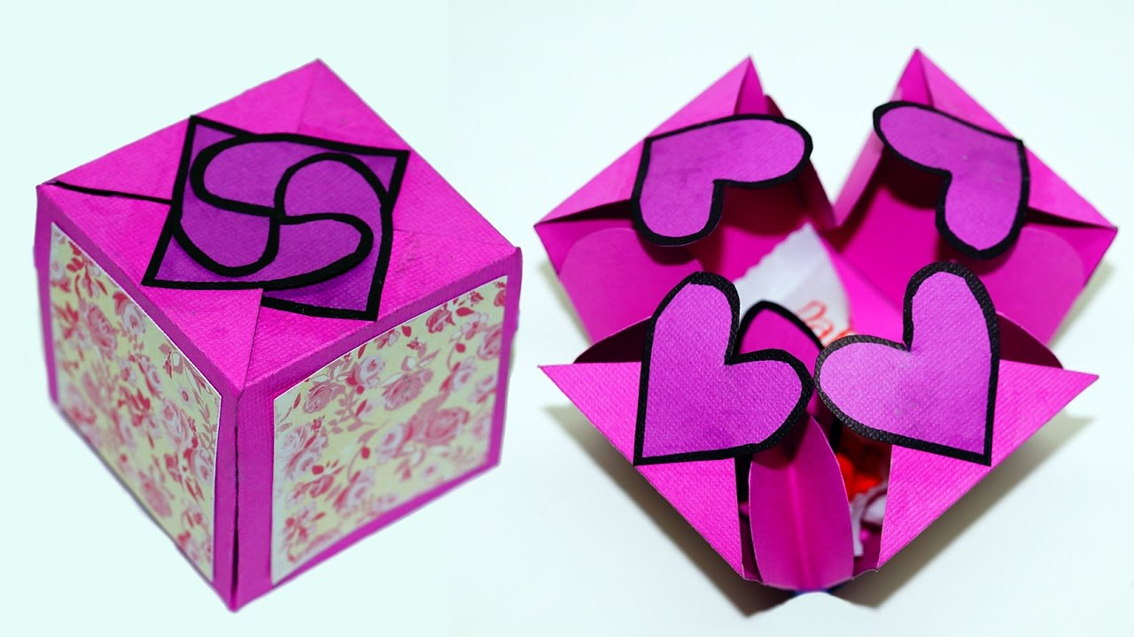 DIY paper crafts idea - Gift box sealed with hearts - a ...