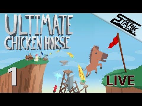 Ultimate Chicken Horse  - 1.Rész (Ez valami vicces cucc) - Stark LIVE