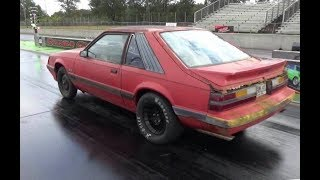 1986 5.0 Mustang GT pt.16 Exhaust Track Day Budget Fox Body Drag Car