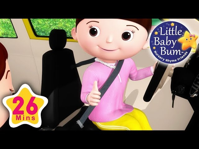 Seat Belt song   Plus Lots More Nursery Rhymes   26 Minutes Compilation from LittleBabyBum!