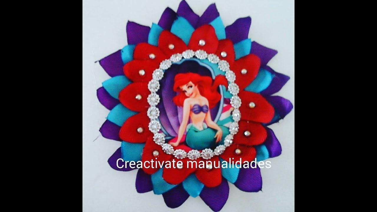Como hacer diadema de la sirenita flor de liston facil de for Manualidades con plumas