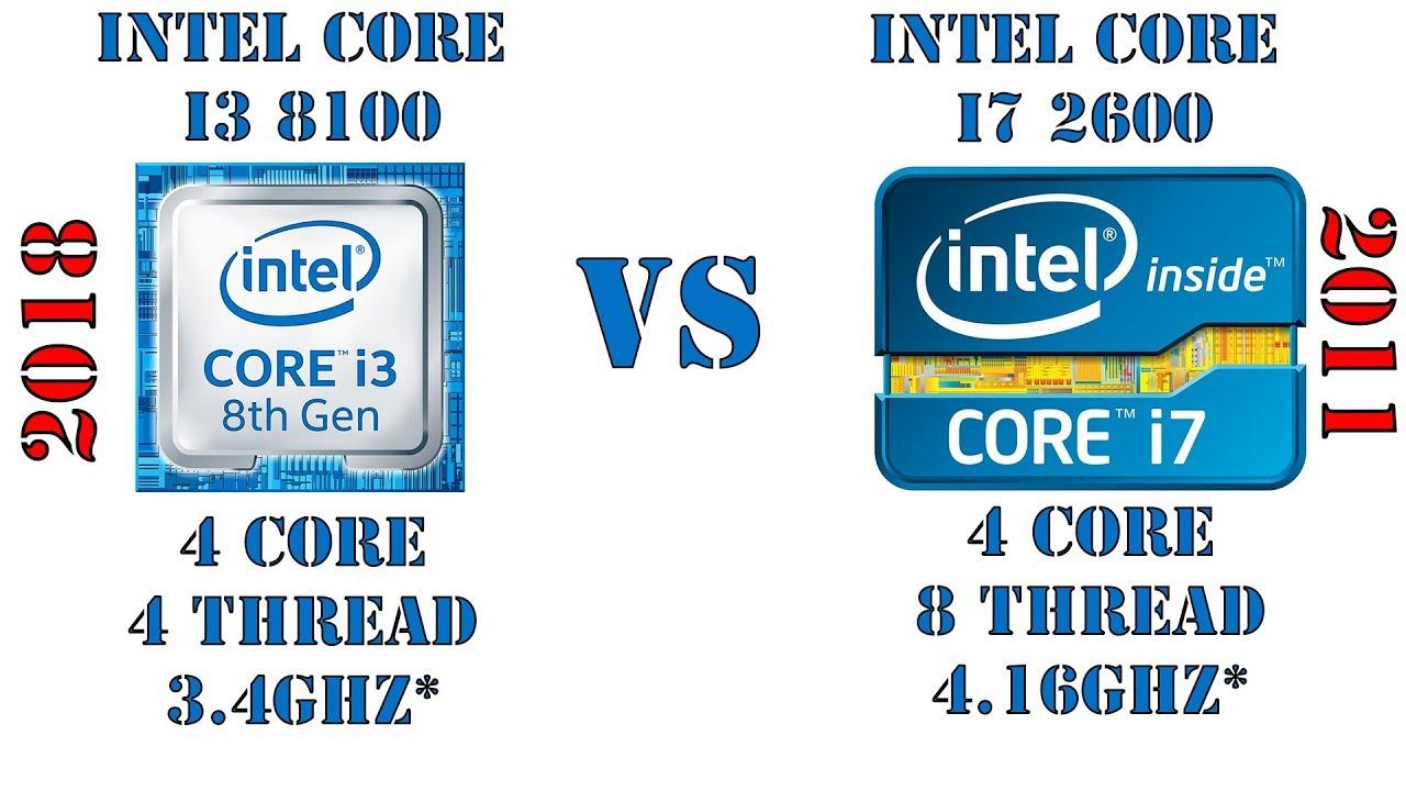 ТОП процессор 2011 года против бюджетного 2018-го! i7 2600 vs i3 8100