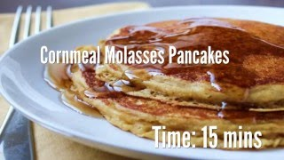 Cornmeal Molasses Pancakes Recipe