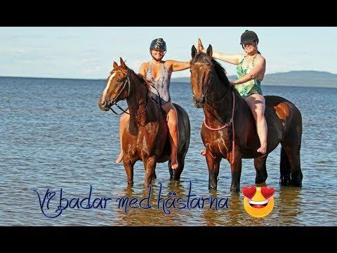 Vi badar med hästarna ♥