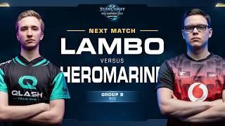 Lambo vs HeroMarine ZvT - Ro16 Group B Winners - WCS Winter Europe