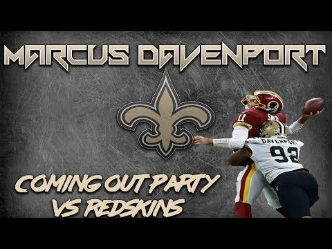 Saints DE Marcus Davenport has coming out party against Redskins