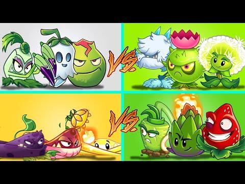 Plants Vs Zombies 2 1 Equipo De Enredaderas Vs 3 Equipo Aleatorios