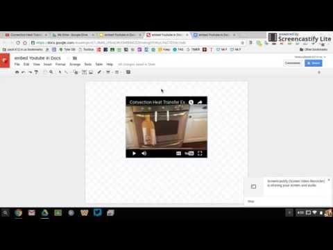 Embed a YouTube Video in Google Docs