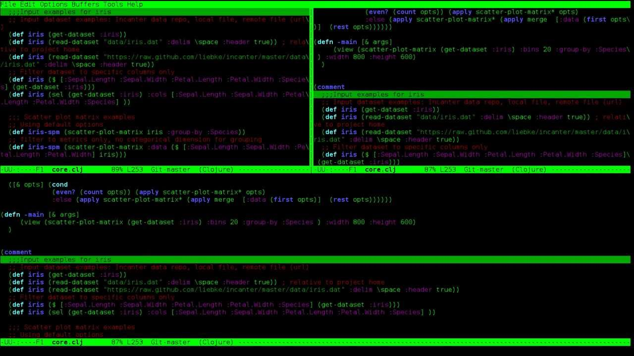 Emacs in a terminal