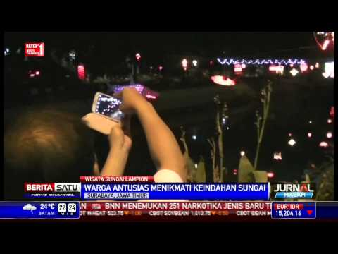Wisata Sungai Lampion di Surabaya
