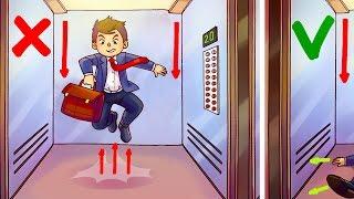 Wie du einen Fahrstuhlabsturz überlebst