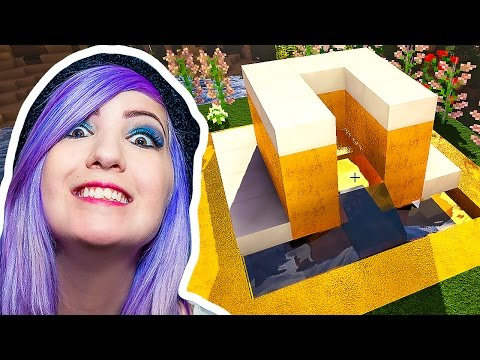 Minecraft with SabrinaBrite - How to Make a Fountain & Modern House Design