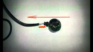 Ремонт наушников. Излом провода у самого наушника.