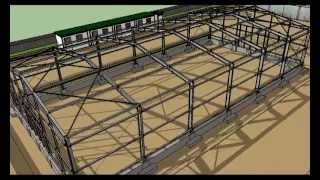 SketchUp Steel Warehouse From The Ground Up