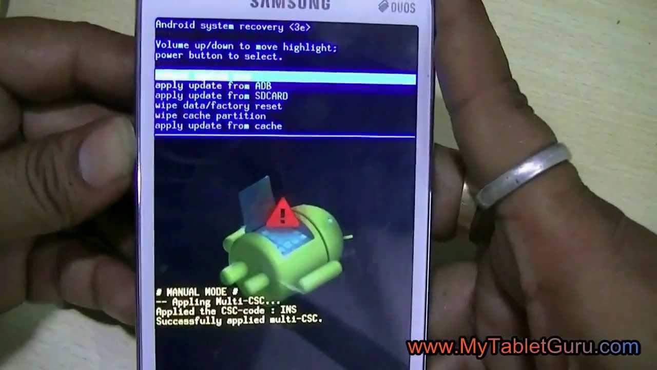 Samsung Duos Factory Reset To Unlock Pattern Lock