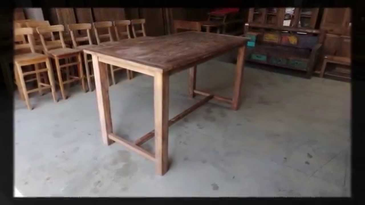 Teak Bartisch Teak Bartafel Youtube