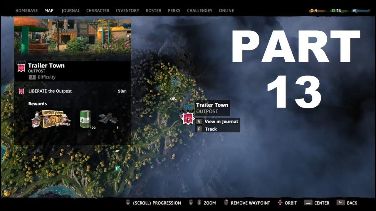 Far Cry New Dawn Walkthrough Part 13 Trailer Town Outpost