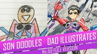 DRAWING with my kids - BLACK HOLE KID [FULL VERSION] No.50