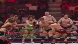 John Cena Randy Orton battle the entire Raw roster Raw, March 17, 2017