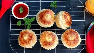 বেকারির স্বাদে চিকেন পেটিস (চুলা ও ওভেনে তৈরি) | Bangladeshi Chicken Patties || Chicken Puff Patties