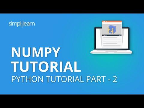 NumPy Tutorial Part - 2   NumPy Array   Python NumPy Tutorial Part -2  Python Tutorial   Simplilearn