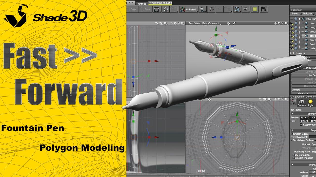Create a Fountain Pen with Shade 3D