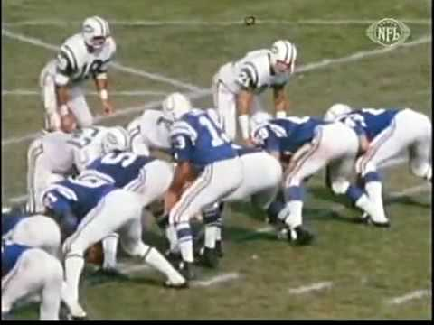 1972  GAME OF THE WEEK JETS @ COLTS