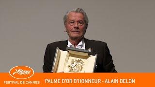 ALAIN DELON - Palme d'Or d'Honneur - Cannes 2019 - VF