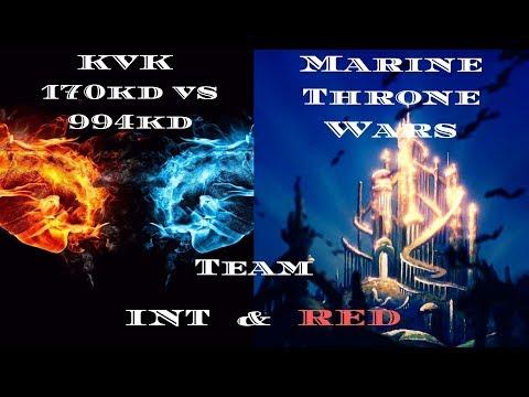 Clash of Kings: kvk 170 vs 994 & Marine Throne!!! INT Alliance Lord Zak & red Team (2019)
