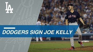 Fireballing reliever Joe Kelly signs with the Dodgers