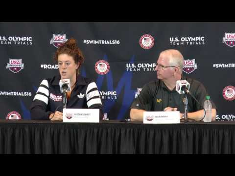 Allison Schmitt and Bob Bowman Press Conference #SwimTrials16
