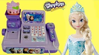 Snow Queen & Princess Dolls Shopping Cash Register