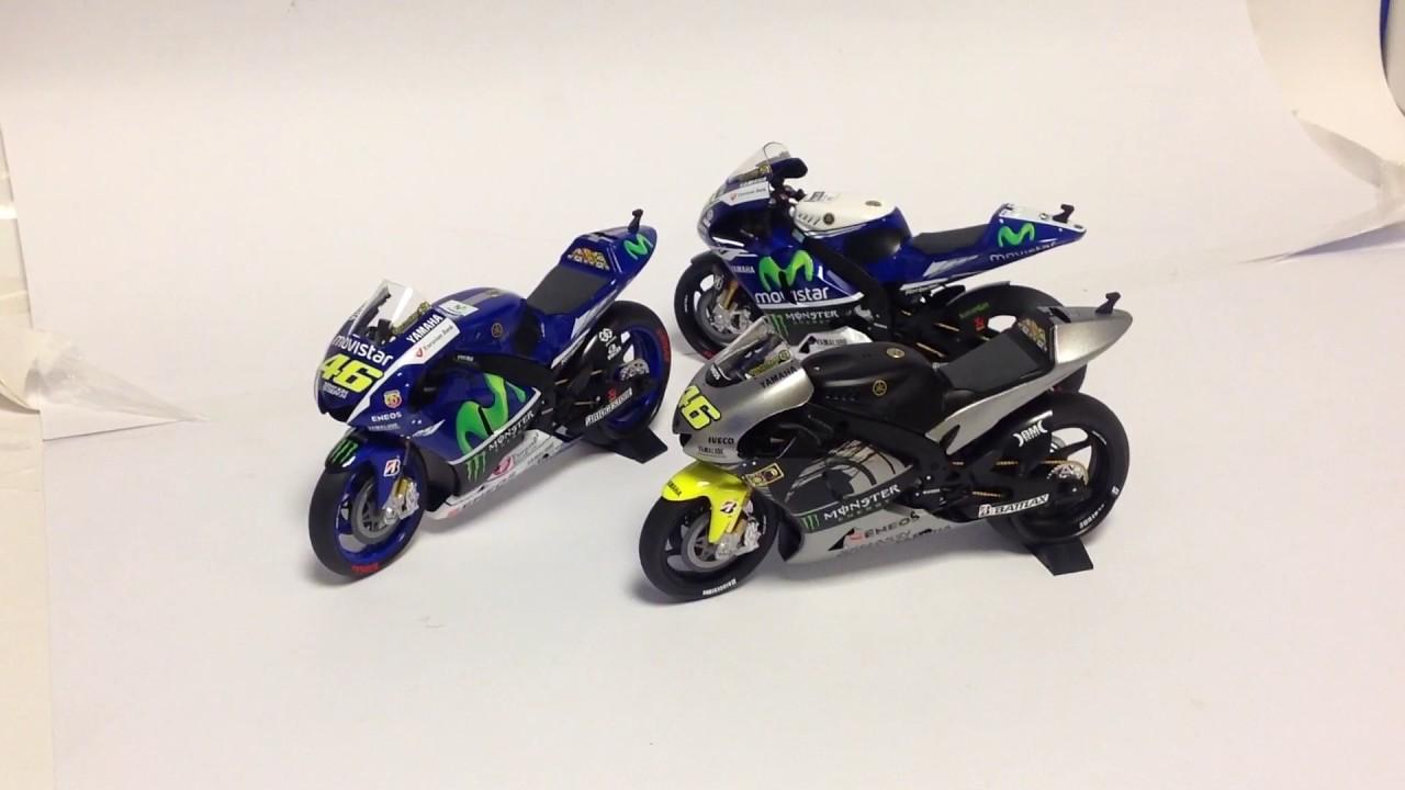 1:12 Minichamps Valentino Rossi Yamaha YZR M1 2013 Sepang Test 122133956 NEW
