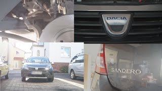 Dacia Sandero замена передних тормозных дисков и колодок vorderen Bremsscheiben Renault Sandero