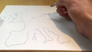 Drawing Europe from memory